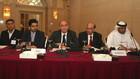 The panel: (left to right) Najam Khawaja, Bandar Asiri, Mohamed K. Alayyan, Tanv